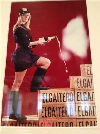 Teresa Gimpera en un cartel de la campaña de navidad de 1968
