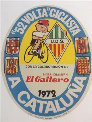 Pegatina de la 52 Volta Ciclista a Cataluña 1972