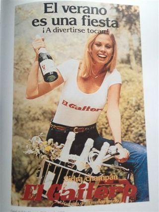 Salvo error, último cartel en el que pervive el binomio sidra champan. Corresponde al año 1982