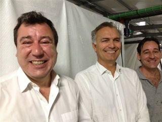 Pepe Villarubia, Bjorn Aspheim y Manuel Poulain, responsables de la empresa