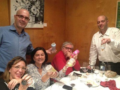 """Algunos """"conspiradores"""". De izquierda a derecha Raquel Castillo, JUlia Pérez, Alberto Fernández, Victor de la Serna y Alberto Luchini"""